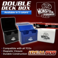 Monster Protectors Double Deck Box - White on Ideal808